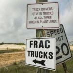Frac Sand Street Signs