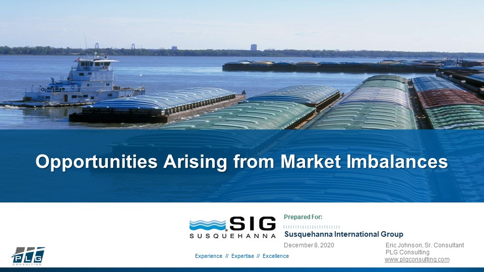 PLG Consulting Opportunities Arising from Market Imbalances Presentation